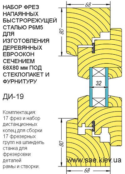 ДИ-19 Евроокно эконом 68х80мм